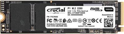 Crucial 500GB P1 NVMe Okuma 1900MB-Yazma 950MB M.2 SSD (CT500P1SSD8)