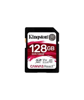 Kingston 128GB SDXC Canvas React 100MB/s UHS-I Class 10 Hafıza Kartı (SDR/128GB)