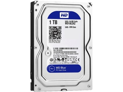 WD 1TB Blue 64MB 5400rpm (WD10EZRZ) Harddisk