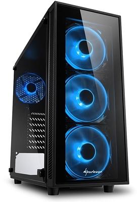 Sharkoon TG4 750W 80+ Bronze Mavi Led Fan USB 3.0 ATX Mid Tower Kasa