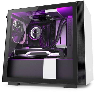 NZXT H210i Tempered Glass RGB Siyah/Beyaz USB 3.1 Mini-ITX Mini Tower Kasa