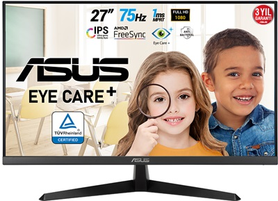 "Asus 27"" VY279HE 1ms 75hz HDMI FreeSync Eye Care Plus Monitör"