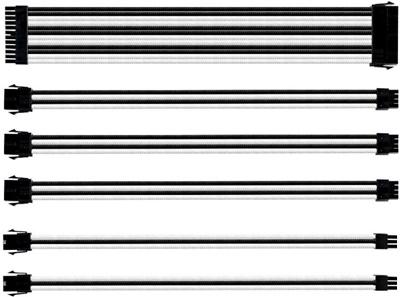 Cooler Master Beyaz/Siyah Sleeved Kablo Seti