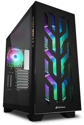 En ucuz Sharkoon Elite Shark CA300T Tempered Glass RGB Black Edition USB 3.0 ATX Mid Tower Kasa  Fiyatı