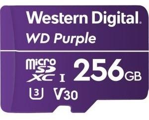 WD 256GB MicroSDXC Purple Survelliance U3 V30 Class 10 (WDD256G1P0A)