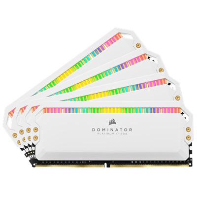 En ucuz Corsair 64GB(4x16) Dominator Platinum RGB 3200mhz CL16 DDR4  Ram (CMT64GX4M4C3200C16W) Fiyatı
