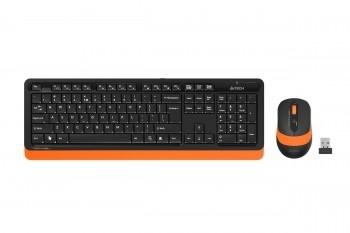 En ucuz A4 Tech FG1010 Turuncu Türkçe Q  Kablosuz Klavye + Mouse Set Fiyatı