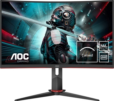 "En ucuz Aoc 27"" CQ27G2U 1ms 144hz HDMI,DisplayPort FreeSync Curved 2K Gaming Monitör Fiyatı"