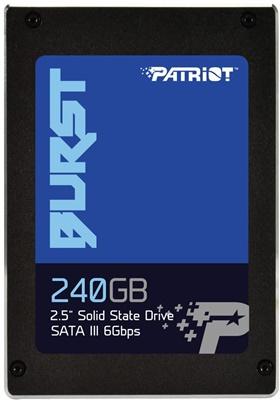 Patriot 240GB Burst Okuma 555MB-Yazma 500MB SATA SSD (PBU240GS25SSDR)