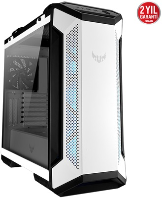 En ucuz Asus TUF Gaming GT501 White Edition RGB Tempered Glass USB 3.1 ATX Mid Tower Kasa  Fiyatı
