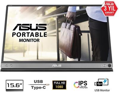 """En ucuz Asus 15,6"""" MB16AC ZenScreen 5ms 60hz USB-C Taşınabilir IPS Monitör Fiyatı"""