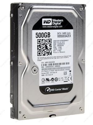 WD 500GB Black 64MB 7200rpm (WD5003AZEX) Harddisk