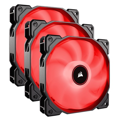 Corsair AF120 Kırmızı Led 120mm Fan (3'lü Set)