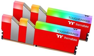 Thermaltake 16GB(2x8) Toughram RGB Racing Red 3600mhz CL18 DDR4  Ram (RG25D408GX2-3600C18A)