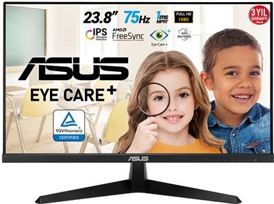 "Asus 23.8"" VY249HE 1ms 75hz HDMI FreeSync Eye Care Plus Monitör"