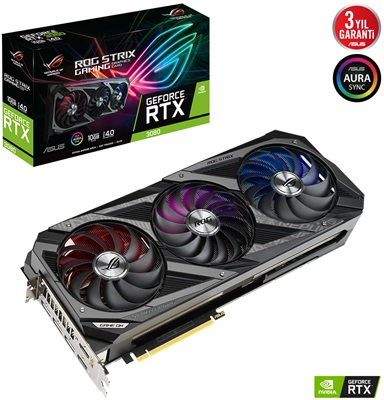 Asus GeForce RTX 3080 Rog Strix V2 10G 10GB GDDR6X 320 Bit Ekran Kartı
