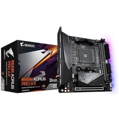 En ucuz Gigabyte B550I Aorus PRO AX 4866mhz(OC) RGB M.2 Wi-Fi AM4 Mini-ITX Anakart Fiyatı