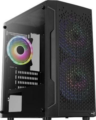 Aerocool Trinity Mini V2 Tempered Glass RGB USB 3.0 mATX Mini Tower Kasa
