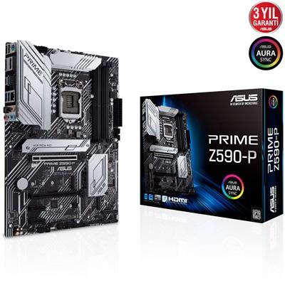 Asus Prime Z590-P 5133mhz(OC) RGB M.2 1200p ATX Anakart