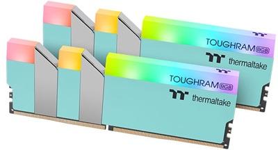 Thermaltake 16GB(2x8) Toughram RGB Turquoise 3600mhz CL18 DDR4  Ram (RG27D408GX2-3600C18A)