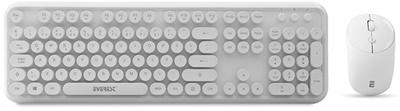Everest Round KM-6282-B Beyaz Türkçe Q  Kablosuz Klavye + Mouse Set