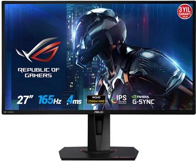 """En ucuz Asus 27"""" PG279QE 4ms 165hz HDMI,DisplayPort G-Sync 2K Gaming Monitör Fiyatı"""