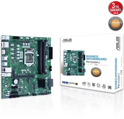 Asus PRO B560M-C/CSM 4600mhz(OC) M.2 1200p mATX Anakart