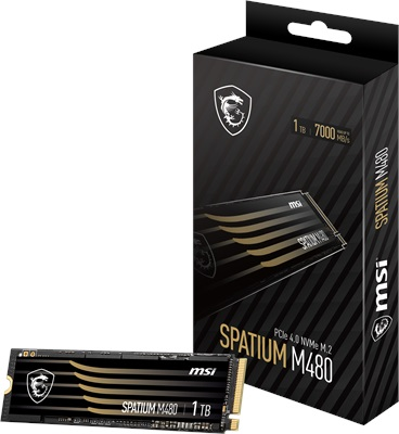 MSI 1TB Spatium M480 NVMe Okuma 7000MB-Yazma 5500MB M.2 SSD