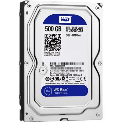 WD 500GB Blue 32MB 7200rpm (WD5000AZLX) Harddisk