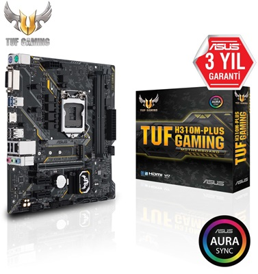 En ucuz Asus TUF H310M-PLUS Gaming 2666mhz(OC) RGB M.2 1151p v2 mATX Anakart Fiyatı