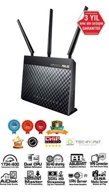 En ucuz Asus DSL-AC68U 1900Mbps 4 Port VDSL/ADSL Modem Router  Fiyatı
