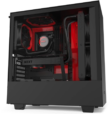 NZXT H510i Tempered Glass RGB Siyah/Kırmızı USB 3.1 ATX Mid Tower Kasa