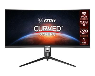 "MSI 30"" Optix MAG301CR2 1ms 200hz HDMI,DisplayPort,Type-C FreeSync Curved 2K Gaming Monitör"