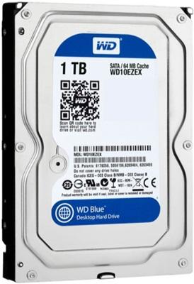 WD 1TB Blue 64MB 7200rpm (WD10EZEX) Harddisk