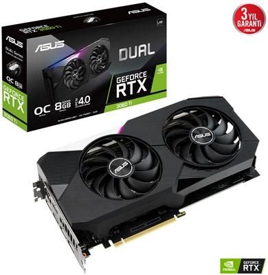 Asus GeForce RTX 3060 Ti Dual V2 O8G 8GB GDDR6 256 Bit Ekran Kartı