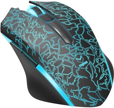 Rapoo V18 Siyah,Mavi Optik Gaming Mouse