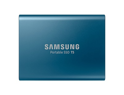 Samsung 250GB T5 Mavi Okuma 540MB-Yazma 540MB USB 3.1 Taşınabilir SSD (MU-PA250B/WW)