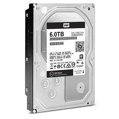 WD 6TB Black 128MB 7200rpm (WD6002FZWX) Harddisk