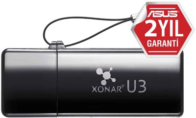 Asus Xonar U3 Stereo USB Gaming Ses Kartı