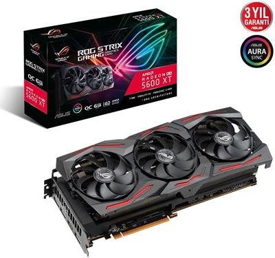 Asus Radeon RX 5600 XT Rog Strix O6G Gaming 6GB GDDR6 192 Bit Ekran Kartı