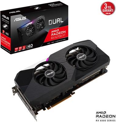 Asus Radeon RX 6700 XT Dual 12G 12GB GDDR6 192 Bit Ekran Kartı