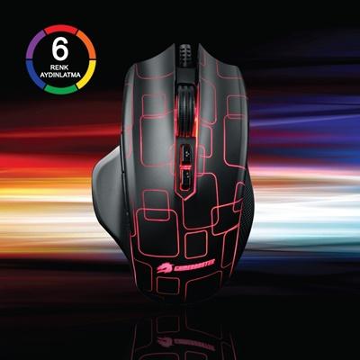 GameBooster Phantom M6 Siyah Led Optik Gaming Mouse