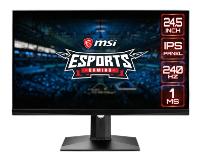 "En ucuz MSI 24.5"" Optix MAG251RX 1ms 240hz HDMI,DisplayPort G-Sync Gaming Monitör Fiyatı"