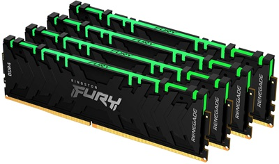Kingston 64GB(4x16) Fury Renegade RGB 3600mhz CL16 DDR4  Ram (KF436C16RB1AK4/64)
