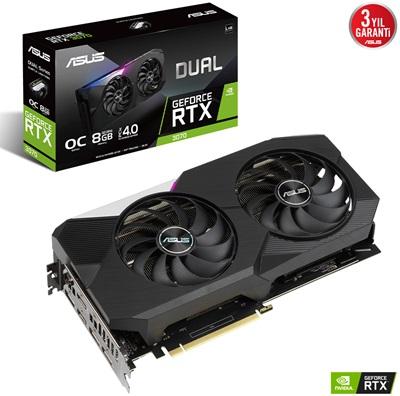 Asus GeForce RTX 3070 Dual V2 O8G 8GB GDDR6 256 Bit Ekran Kartı