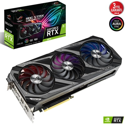 Asus GeForce RTX 3070 Rog Strix V2 O8G 8GB GDDR6 256 Bit Ekran Kartı