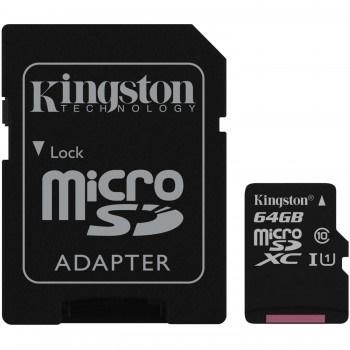 Kingston 64GB MicroSDXC Canvas Select 80MB/s UHS-I Class 10 Hafıza Kartı (SDCS/64GB)