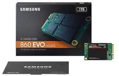 En ucuz Samsung 1TB 860 Evo Okuma 550MB-Yazma 520MB mSATA SSD (MZ-M6E1T0BW) Fiyatı