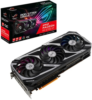 Asus Radeon RX 6700 XT Rog Strix O12G Gaming 12GB GDDR6 192 Bit Ekran Kartı