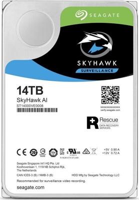Seagate 14TB Skyhawk AI 256MB 7200rpm (ST14000VE0008) Güvenlik Diski